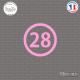 Sticker Département 28 Eure-et-Loir Chartres Centre-Val Sticks-em.fr Couleurs au choix