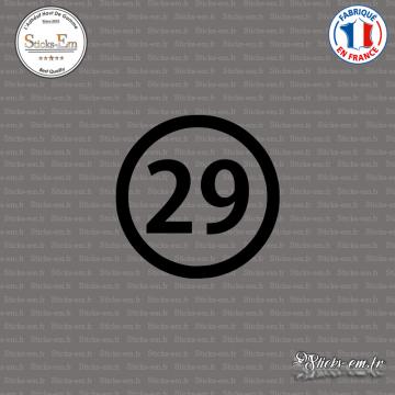 Sticker Département 29 Finistère Quimper Bretagne BZH