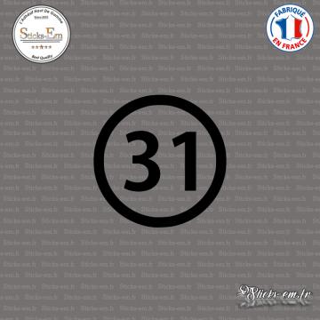 Sticker Département 31 Haute-Garonne Toulouse Muret