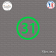 Sticker Département 31 Haute-Garonne Toulouse Muret Sticks-em.fr Couleurs au choix