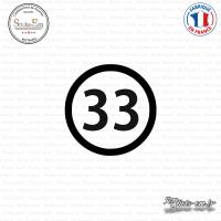 Sticker Département 33 Gironde Bordeaux Aquitaine Blaye