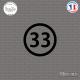 Sticker Département 33 Gironde Bordeaux Aquitaine Blaye Sticks-em.fr Couleurs au choix
