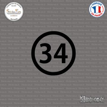 Sticker Département 34 Hérault Montpellier Béziers