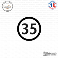 Sticker Département 35 Ille-et-Vilaine Rennes Bretagne BZH