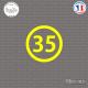 Sticker Département 35 Ille-et-Vilaine Rennes Bretagne BZH Sticks-em.fr Couleurs au choix
