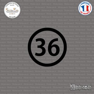Sticker Département 36 Indre Châteauroux Centre-Val de Loire