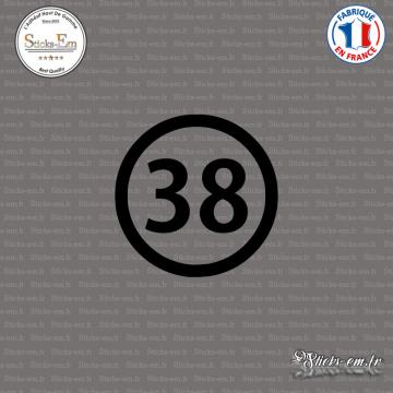 Sticker Département 38 Isère Grenoble Rhône-Alpes Vienne