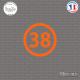 Sticker Département 38 Isère Grenoble Rhône-Alpes Vienne Sticks-em.fr Couleurs au choix