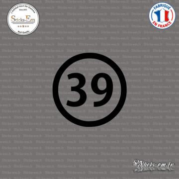 Sticker Département 39 Jura Lons-le-Saunier Franche-Comté