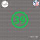 Sticker Département 39 Jura Lons-le-Saunier Franche-Comté Sticks-em.fr Couleurs au choix