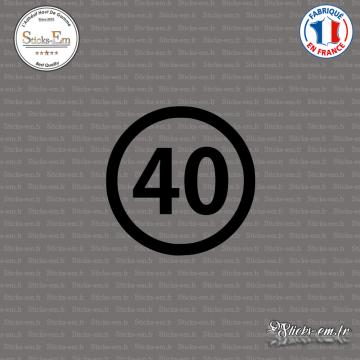 Sticker Département 40 Landes Mont-de-Marsan Aquitaine Dax