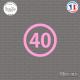 Sticker Département 40 Landes Mont-de-Marsan Aquitaine Dax Sticks-em.fr Couleurs au choix