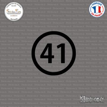 Sticker Département 41 Loir-et-Cher Blois Centre-Val de Loir