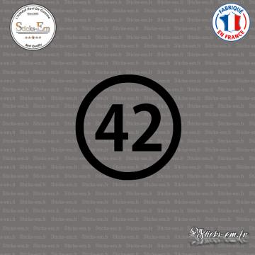 Sticker Département 42 Loire Saint-Étienne Rhône-Alpes