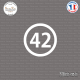Sticker Département 42 Loire Saint-Étienne Rhône-Alpes Sticks-em.fr Couleurs au choix