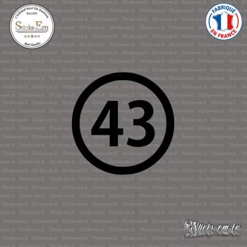 Sticker Département 43 Haute-Loire Le Puy-en-Velay Auvergne