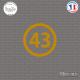 Sticker Département 43 Haute-Loire Le Puy-en-Velay Auvergne Sticks-em.fr Couleurs au choix