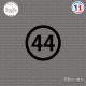 Sticker Département 44 Loire-Atlantique Nantes Pays de Loire Sticks-em.fr Couleurs au choix