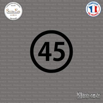 Sticker Département 45 Loiret Orléans Centre-Val de Loire