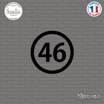 Sticker Département 46 Lot Cahors Midi-Pyrénées Figeac