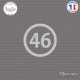 Sticker Département 46 Lot Cahors Midi-Pyrénées Figeac Sticks-em.fr Couleurs au choix