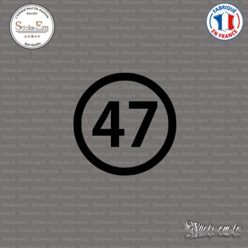Sticker Département 47 Lot-et-Garonne Agen Aquitaine Nérac