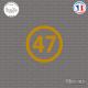 Sticker Département 47 Lot-et-Garonne Agen Aquitaine Nérac Sticks-em.fr Couleurs au choix