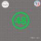Sticker Département 48 Lozère Mende Languedoc-Roussillon Sticks-em.fr Couleurs au choix