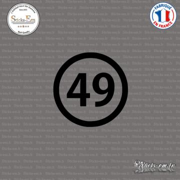 Sticker Département 49 Maine-et-Loire Angers Pays de la Loire