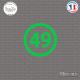 Sticker Département 49 Maine-et-Loire Angers Pays de la Loire Sticks-em.fr Couleurs au choix