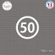 Sticker Département 50 Manche Saint-Lô Basse-Normandie Sticks-em.fr Couleurs au choix