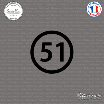 Sticker Département 51 Marne Châlons-en-Champagne Épernay