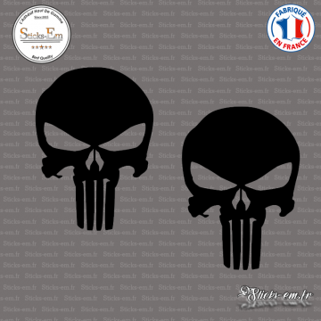 2 Stickers Punisher