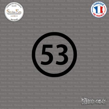 Sticker Département 53 Mayenne Laval Pays de la Loire Mayenne