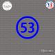 Sticker Département 53 Mayenne Laval Pays de la Loire Mayenne Sticks-em.fr Couleurs au choix