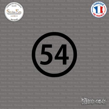 Sticker Département 54 Meurthe-et-Moselle Nancy Lorraine Toul