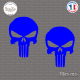 2 Stickers Punisher Sticks-em.fr Couleurs au choix