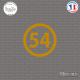 Sticker Département 54 Meurthe-et-Moselle Nancy Lorraine Toul Sticks-em.fr Couleurs au choix