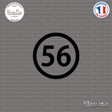 Sticker Département 56 Morbihan Vannes Bretagne BZH