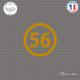 Sticker Département 56 Morbihan Vannes Bretagne BZH Sticks-em.fr Couleurs au choix