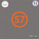 Sticker Département 57 Moselle Metz Boulay-Moselle Thionville Sticks-em.fr Couleurs au choix
