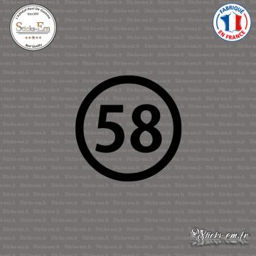 Sticker Département 58 Nièvre Nevers Bourgogne Cosne Cours