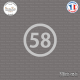 Sticker Département 58 Nièvre Nevers Bourgogne Cosne Cours Sticks-em.fr Couleurs au choix