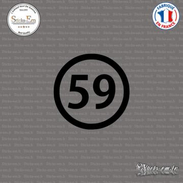 Sticker Département 59 Nord Lille Nord-Pas-de-Calais Cambrai