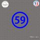 Sticker Département 59 Nord Lille Nord-Pas-de-Calais Cambrai Sticks-em.fr Couleurs au choix