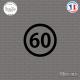 Sticker Département 60 Oise Beauvais Picardie Senlis Sticks-em.fr Couleurs au choix