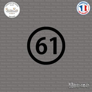 Sticker Département 61 Orne Basse-Normandie Argentan
