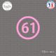 Sticker Département 61 Orne Basse-Normandie Argentan Sticks-em.fr Couleurs au choix
