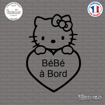 Sticker Bébé à Bord Hello Kitty