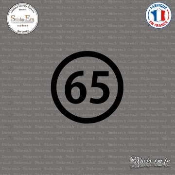 Sticker Département 65 Hautes Pyrénées Languedoc Roussillon Midi Pyrénées Tarbes